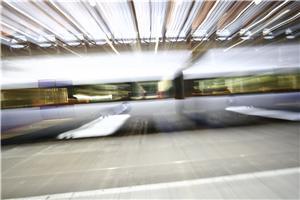 Airport rail services prove popular