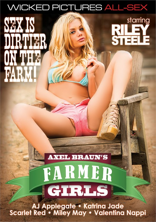 Axel Braun's Farmer Girls, Porn DVD, Wicked Pictures, Axel Braun, Riley Steele, AJ Applegate, Katrina Jade, Scarlet Red, Miley May, Valentina Nappi, Eric John, Will Powers, Jay Crew, Evan Stone, Alec Knight, All Sex, Sex Is Dirtier