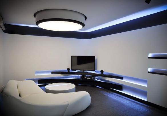 No meio de tanta modernidade, a decoração com estilo hytec ou futurista vem conquistando cada vez mais os amantes da tecnologia - Reprodução/Internet