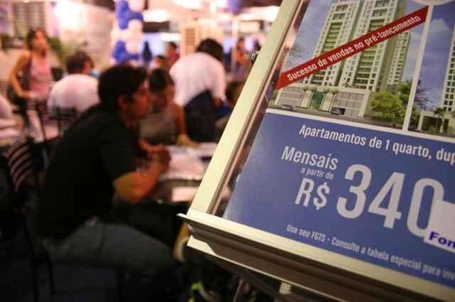 Contratações de financiamentos imobiliários pela Caixa Econômica Federal fechou o primeiro semestre com recorde de R$ 66,63 bilhões, alta de 44% (Monique Renne/Esp. CB/D.A Press)