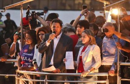 Haddad luta pela transferência de votos do ex-presidente. Foto: Arthur Menescal/Esp. CB/D.A Press