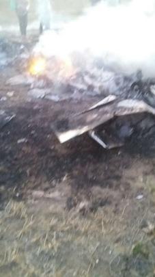 Avião caiu quando sobrevoava acampamento de sem-terra em fazenda no município de Tumiritinga