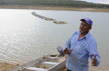 O piscicultor Geraldo Magela Ribeiro Leite deixou a pesca artesanal para multiplicar ganhos no criatório