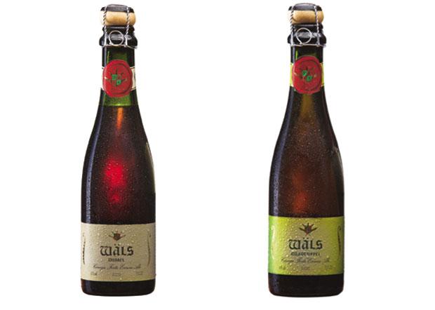 À esquerda a vencedora, a cerveja Dubbel. Ao lado, a Quadruppel. (Wäls/Divulgação)