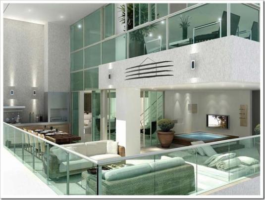 Uso de blindex na decoração - Reprodução da Internet/Clique Arquitetura/Arquitetura BH/ acesso em 08/04/2014