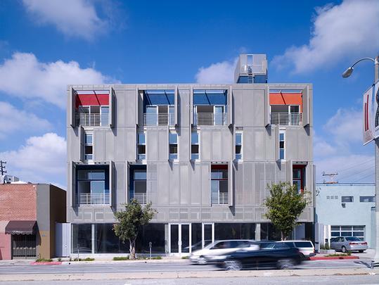 Cherokee Studios by Brooks   Scarpa: condomínio em Los Angeles pode adaptar a sacada de acordo com a ocupação dos quartos - Divulgação/AIA