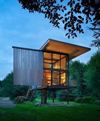 Sol Duc Cabin by Olson Kundig Architects - Cabine de pesca com elementos pré-fabricados super-resistentes  - Divulgação/AIA