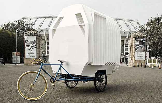 Com a possibilidade de ser levada para qualquer lugar, a Casa Triciclo foi indicada na categoria Mobilidade (Architizer A  Awards/Divulgação)