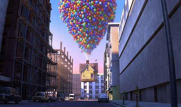 Assim como Carl Fredricksen, personagem do desenho, a senhora também mantinha um forte apego emocional à casa (Pixar/Divulgação)