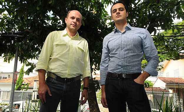 Marco Tulio Silva e Carlos Eduardo Battesini Pereira, da loteadora Neo Urbanismo: incorporadora amplia atuação para outras regiões do estado (Euler Júnior/EM/D.A Press)