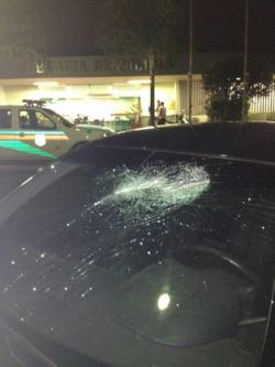 O condutor disse que viu um grupo de rapazes, mas não identificou ninguém (Luciano Milhomem/Divulgação)