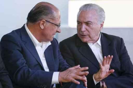 Resultado de imagem para temer e alckmin