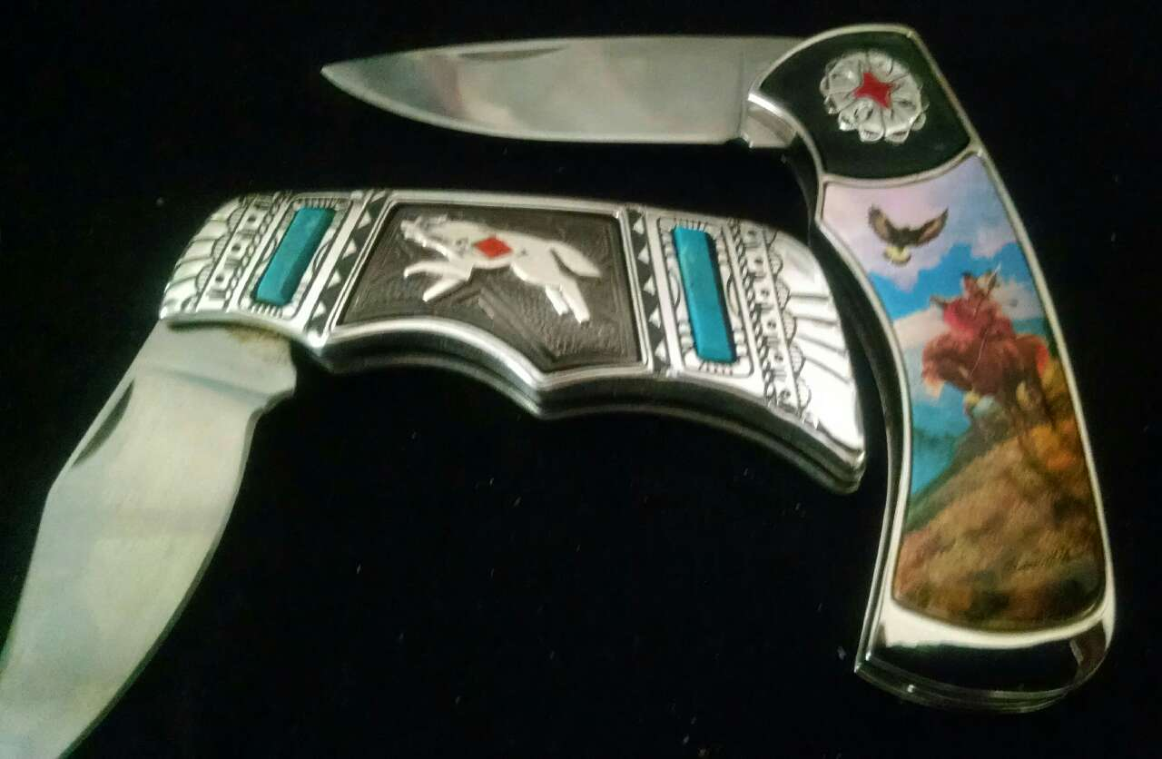 Franklin Mint Collector Knives Wolf
