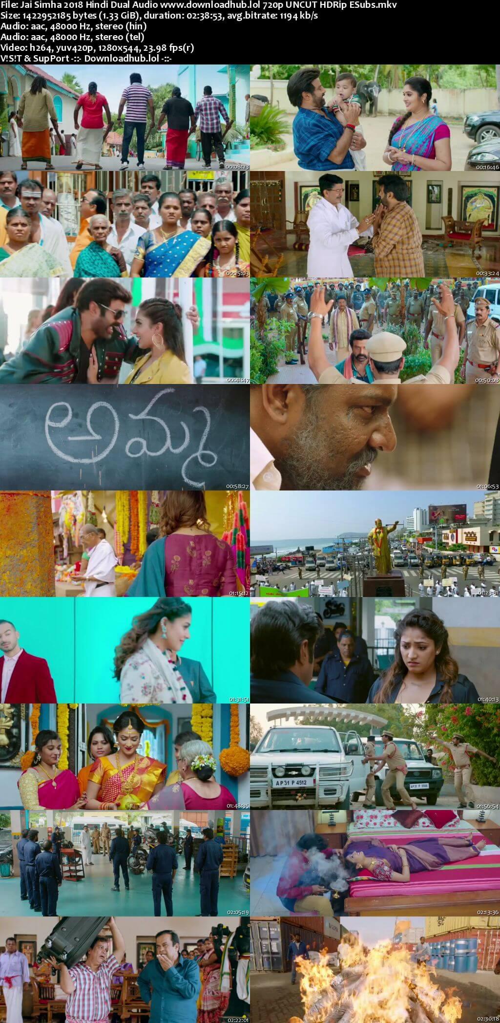 Jai Simha 2018 Hindi Dual Audio Movie Download 720p HDRip