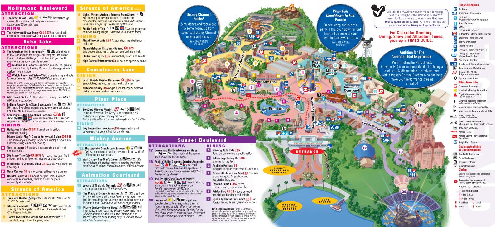 Walt Disney World Resort Map 2013