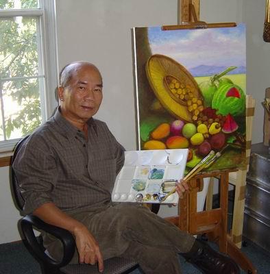 Esteban, the Artist  [#1407711] Esteban in his studio in Aurora, Colorado