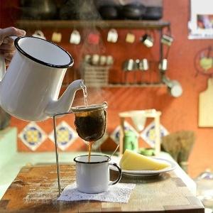 Café sendo servido