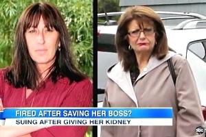 Mulher doa rim para chefe e é demitida