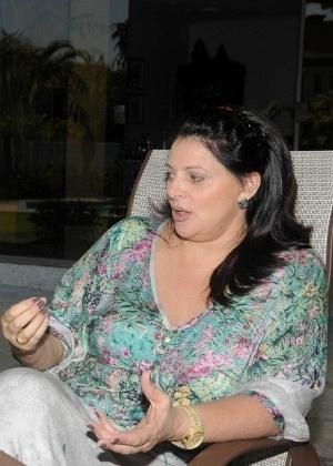 Sônia Lima dá entrevista em sua casa no Rio de Janeiro (10/7/12)