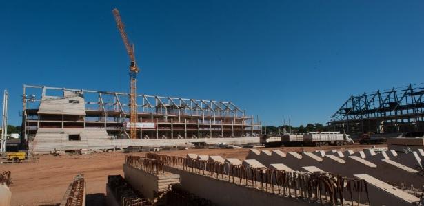 Obras da Arena Pantanal, em Cuiabá (MT), atingiram 46% de conclusão em julho de 2012