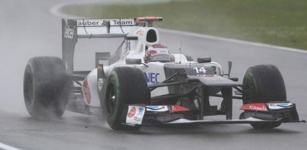 Japonês Kamui Kobayashi, da Sauber, liderou treino livre do GP da Bélgica