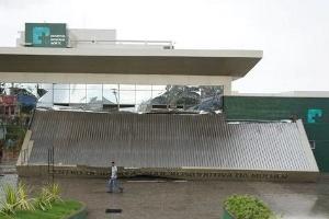 Fachada que desabou em hospital de Sobral (CE) inaugurado há um mês com show de Ivete