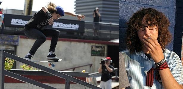 Americana Marisa Dal Santo, do skate street, fumou na pista em Foz sem constrangimento