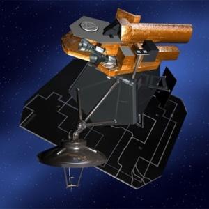 Concepção artística da nave Deep Impact, lançada em 2005 e perdida pela Nasa