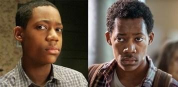 """Tyler James Williams em """" Todo Mundo Odeia o Chris""""(à esquerda) e """"The Walking Dead"""" (à direita)"""