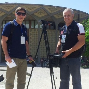 Equipe da Band grava reportagens no Irã sobre a Copa do Mundo