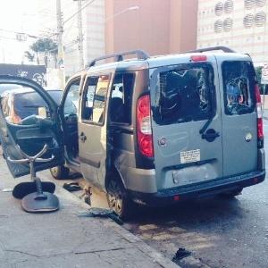 Carro do SBT foi destruído