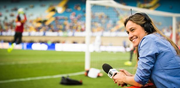 Copa do Mundo impulsionou faturamento das TVs em 2014; na foto, a repórter Fernanda Gentil, da Globo