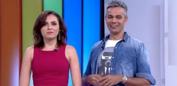 """Mônica Iozzi e Otaviano Costa no """"Vídeo Show"""""""