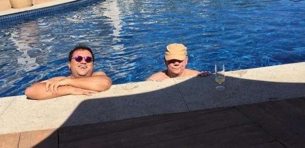 Geraldo Luis e Marcelo Rezende aproveitam as férias juntos