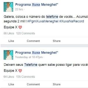 Cuidado! Golpe envolvendo programa de Xuxa expõe celulares no Facebook