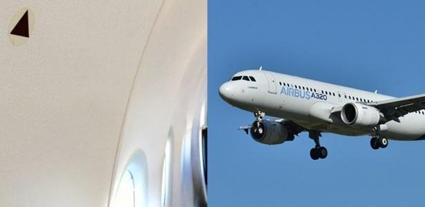O símbolo marca as melhores janelas de onde observar o exterior do avião
