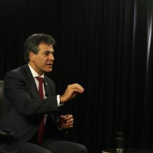 Beto Richa, governador do Paraná, durante entrevista ao UOL
