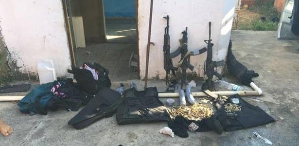 Material apreendido pelo Deic após roubo à Protege, em Campinas