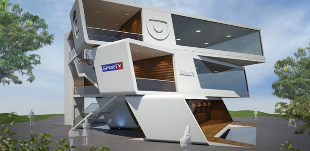 Imagem do projeto mostra como deverá ficar o estúdio da TV Globo dentro do Parque Olímpico