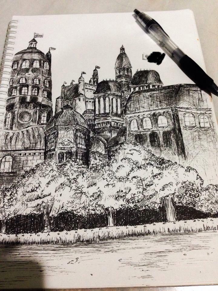 #鋼筆素描 #建築物 - 手作板 | Dcard