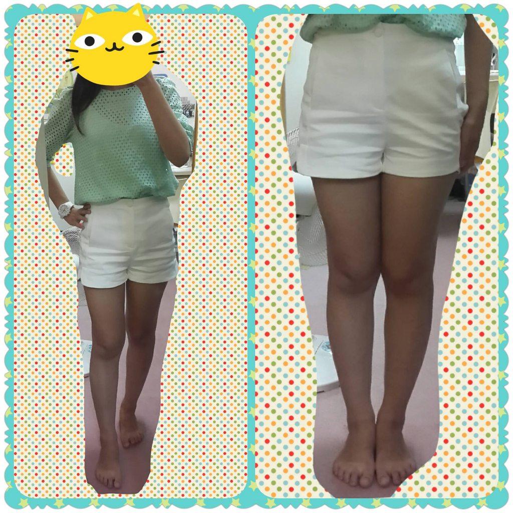 【穿搭分享】白色短褲也是能藏肉顯瘦~ - 女孩板   Dcard