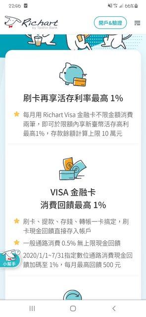 richart 白狗卡 現金回饋 - 理財板 | Dcard