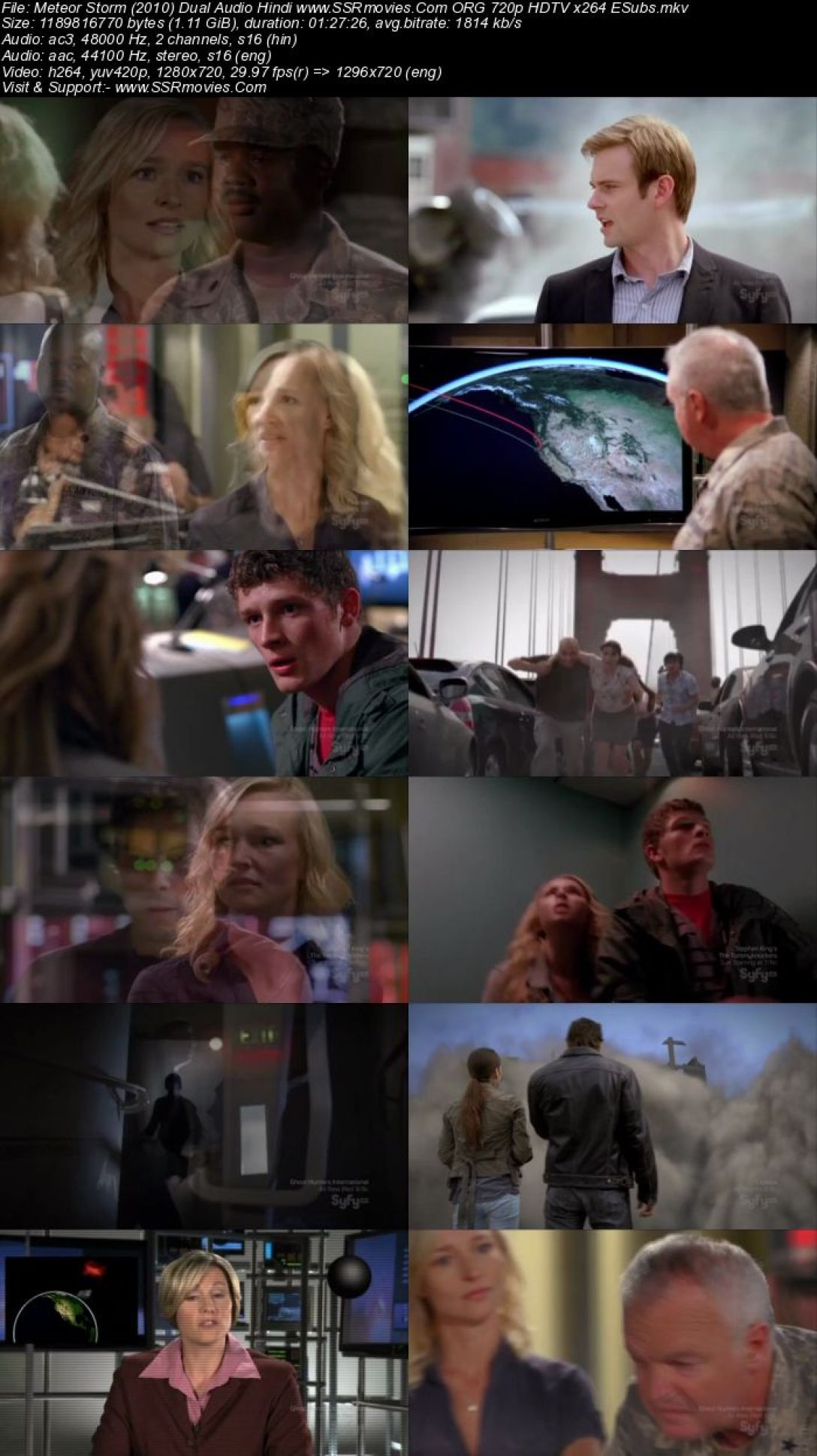 Meteor Storm (2010) Dual Audio Hindi 720p HDTV x264 1.1GB Full Movie Download