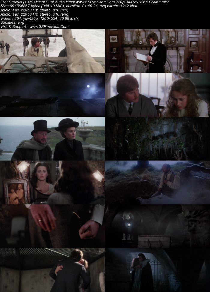 Dracula (1979) Dual Audio Hindi 720p BluRay x264 950MB Full Movie Download