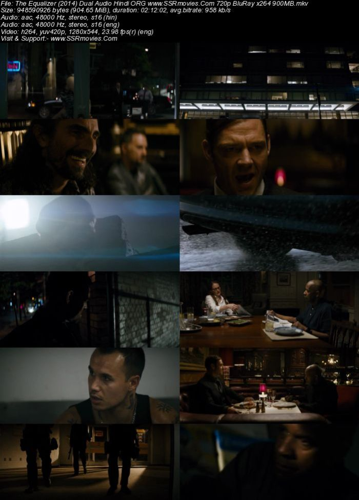 The Equalizer (2014) Dual Audio Hindi 720p BluRay x264 900MB Full Movie Download