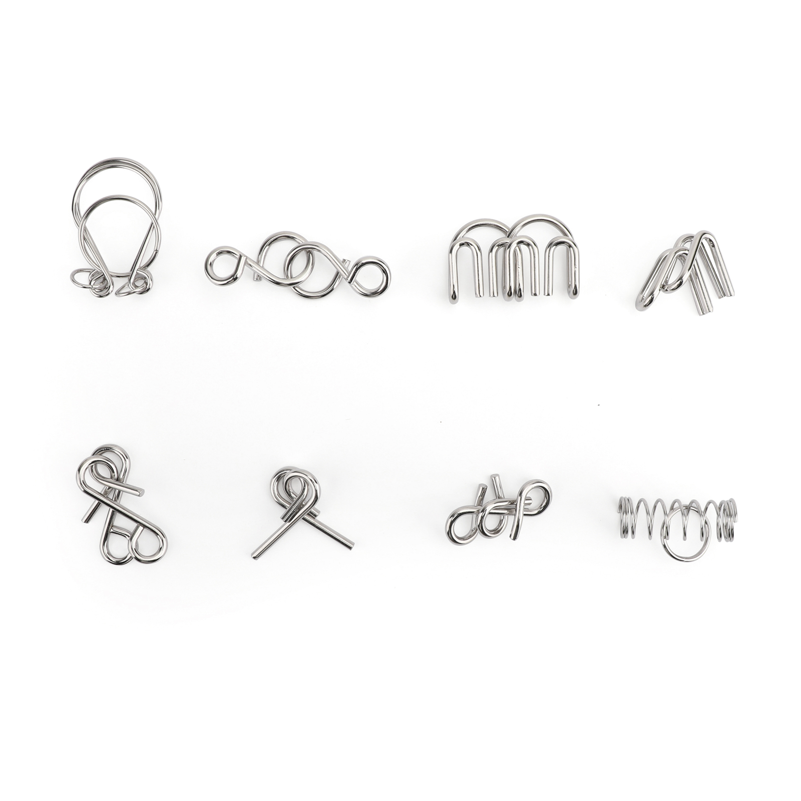 Metal Wire Puzzle Game Brain Teaser Toys Magic Ring Iq