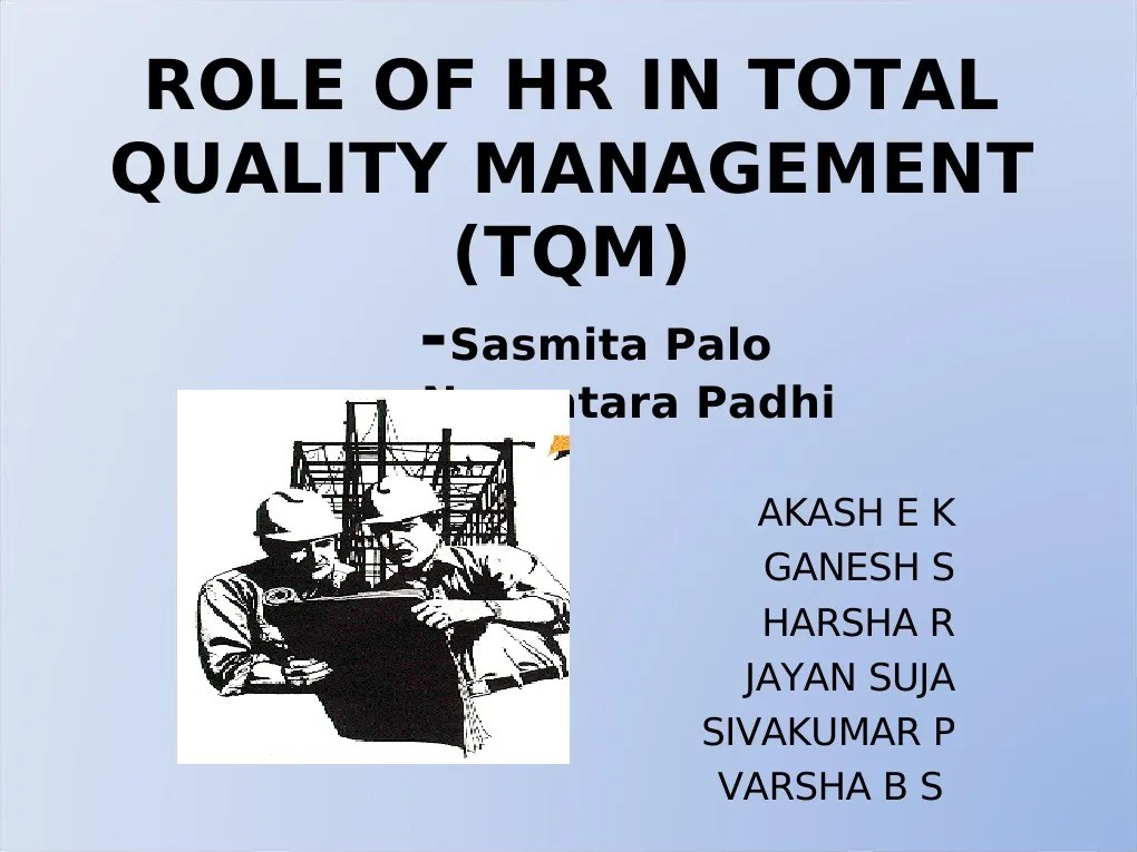 Role of Hr in Total Quality Management (2) | Human ...