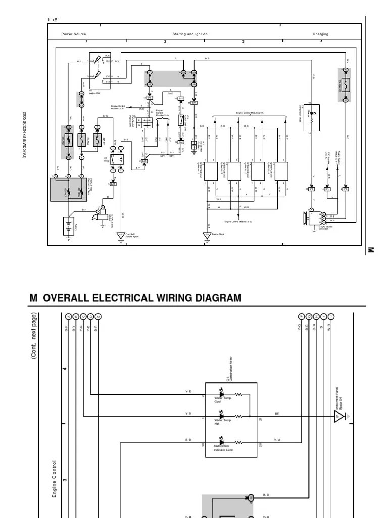 Scion xB 2005 Overall wiring diagram