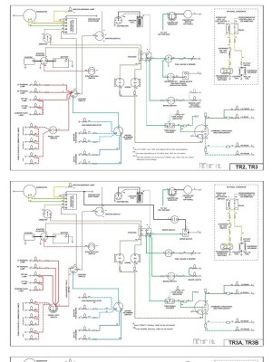 Wiring Diagrams for TR2, TR3, TR4 and TR4a