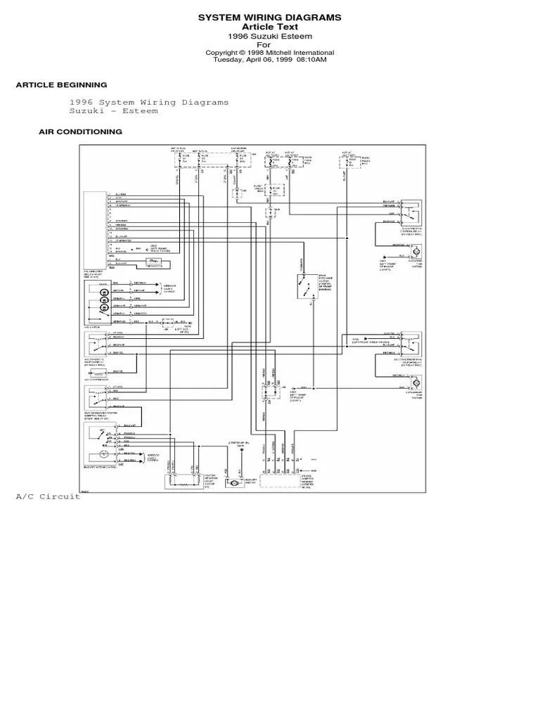 2001 suzuki esteem electrical diagram wiring diagram services u2022 rh wiringdiagramguide services 2001 Suzuki Esteem Recalls 2001 Suzuki Cars